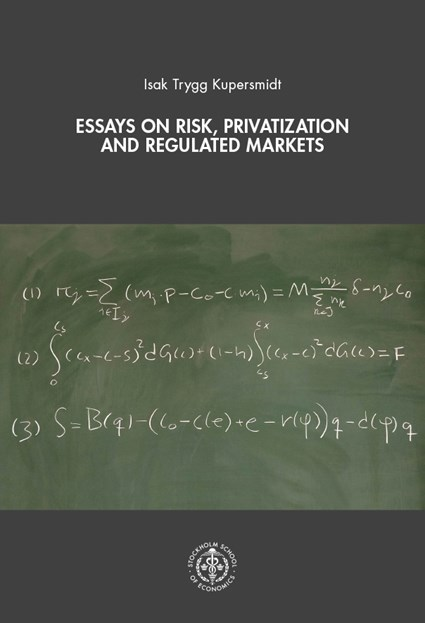Cover of the dissertation Essays of risk, privatization and regulated markets