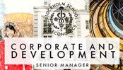 Ad for Corporate and development senior manager vacancy