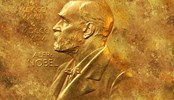 Gold plaque of Alfred Nobel
