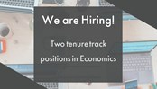 Vacancy for two tenure track positions in economics