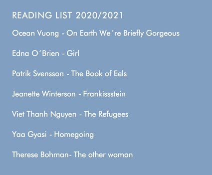 Reading list 2020 and 2021 in the Literary Agenda